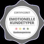 Certificeringslogo i Emotionelle Kundetyper