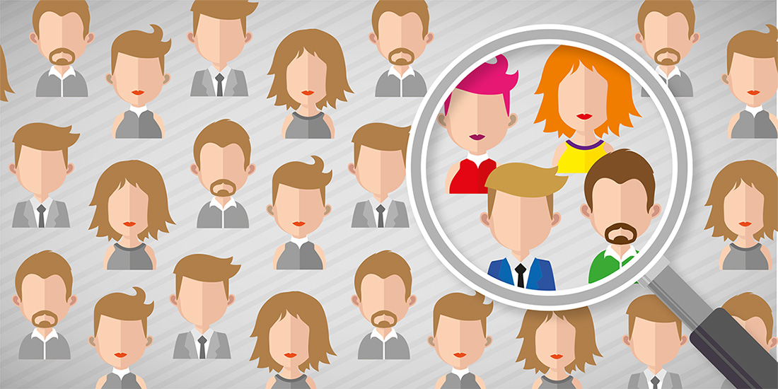 Illustration om forskel på målgruppe og kundetype - Ophavsret: Karin Brinks Melbye